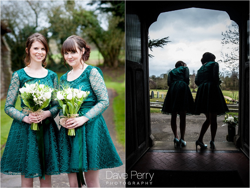 handmade bridesmaid dresses at gorcott hall