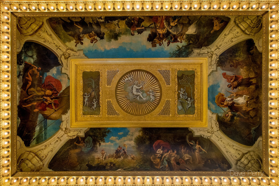 Painted ceiling at Stanford Hall